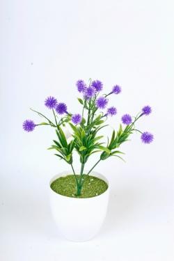 Искусственное растение -  Цветочки-шарики фиолетовые