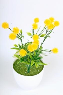 Искусственное растение -  Цветочки-шарики жёлтые