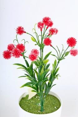 Искусственное растение -  Цветочки-шарики красные