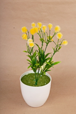 Искусственное растение -  Цветочки-шарики лимонные