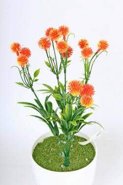 Искусственное растение -  Цветочки-шарики оранжевые