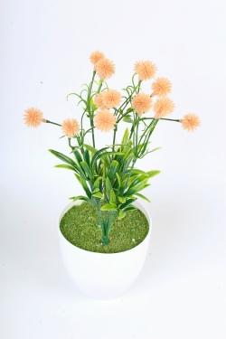 Искусственное растение -  Цветочки-шарики персиковые