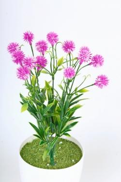 Искусственное растение -  Цветочки-шарики сиреневые