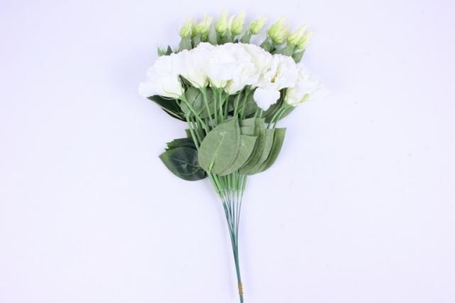 искусственное растение - цветок эустомы (12 шт в уп) белый 45 см sun357