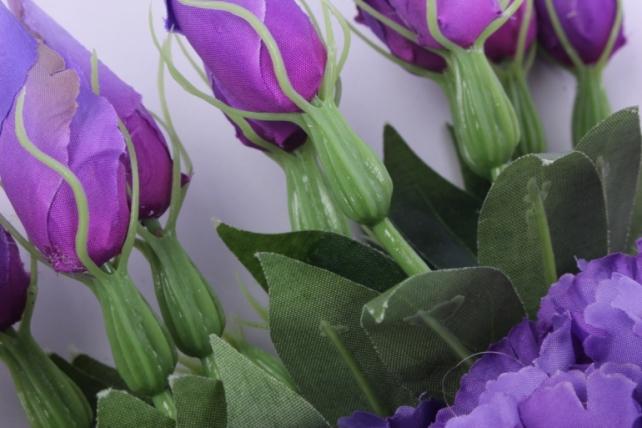 искусственное растение - цветок эустомы (12 шт в уп) фиолетовый 45 см sun357