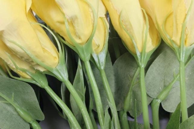 искусственное растение - цветок эустомы (12 шт в уп) лимонный 45 см sun357