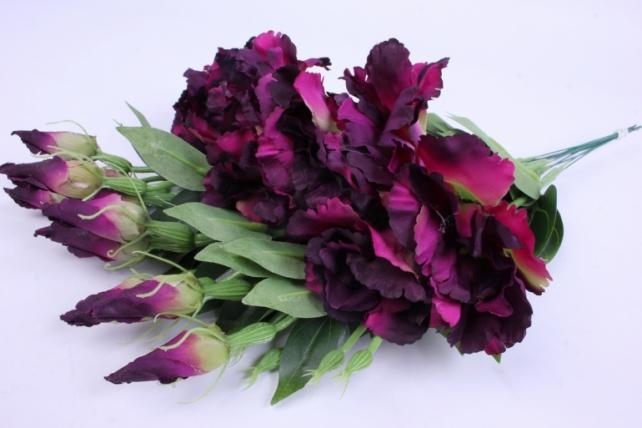 Искусственное растение - Цветок Эустомы (12 шт в уп) Пурпурный 45 см SUN357