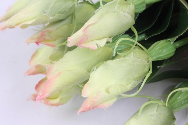 искусственное растение - цветок эустомы (12 шт в уп) розовый 45 см sun357
