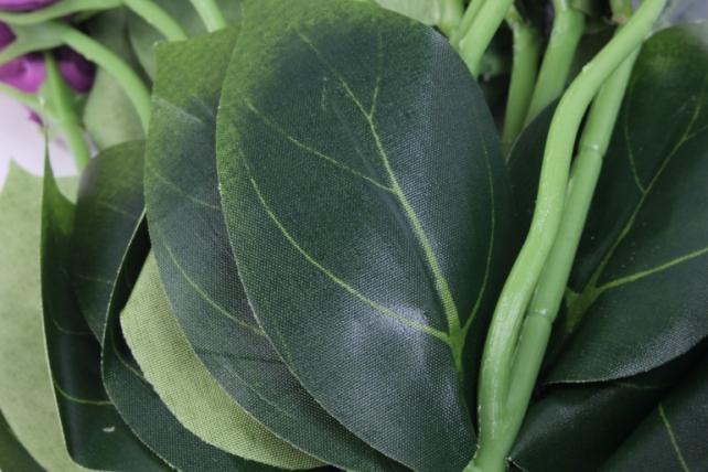 искусственное растение - цветок эустомы (12 шт в уп) салатово-сиреневый 45 см sun357