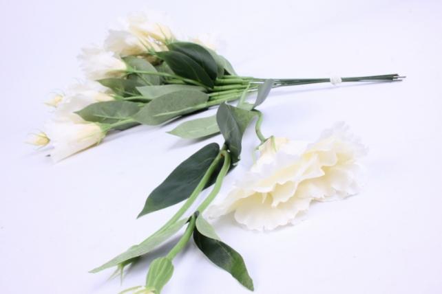 искусственное растение - цветок эустомы (12 шт в уп) шампань 45 см sun357