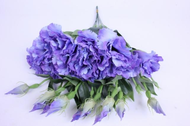 искусственное растение - цветок эустомы (12 шт в уп) синий 45 см sun357