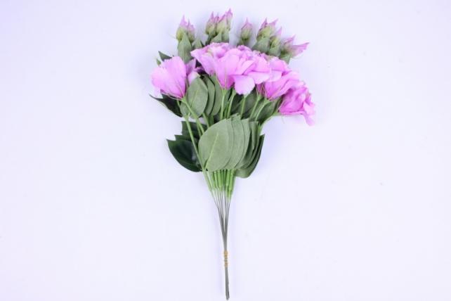 искусственное растение - цветок эустомы (12 шт в уп) сиреневый 45 см sun357
