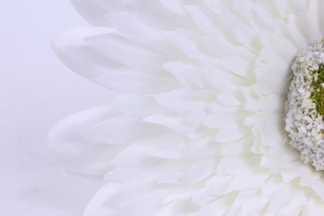 искусственное растение - цветок герберы 60 см белы sun348