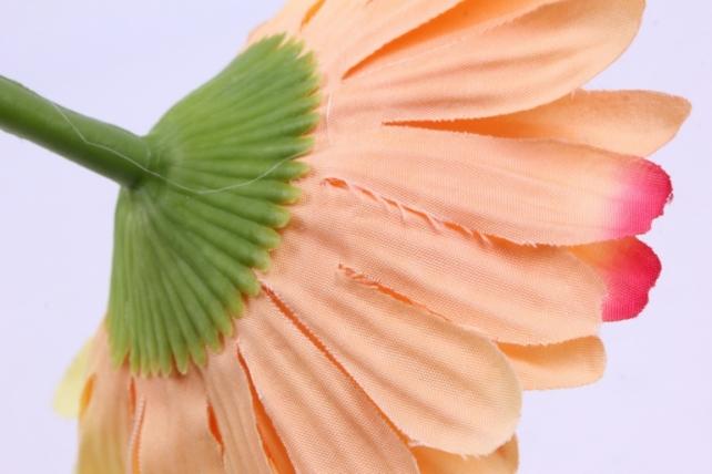 искусственное растение - цветок герберы 60 см жёлтый sun348
