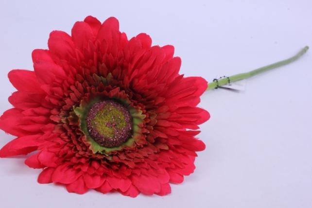 Искусственное растение - Цветок Герберы 60 см Красный SUN348