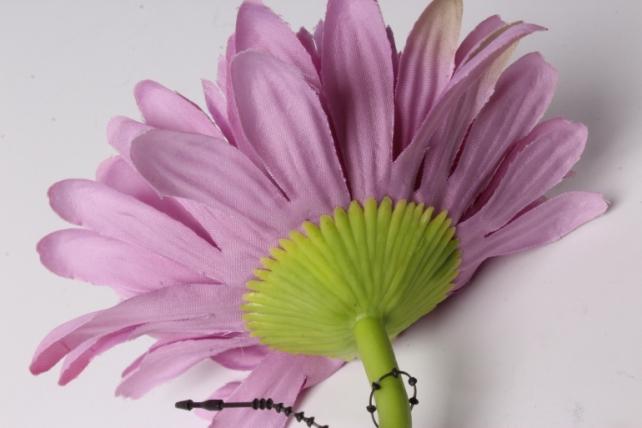 искусственное растение - цветок герберы 60 см сиреневый   sun348
