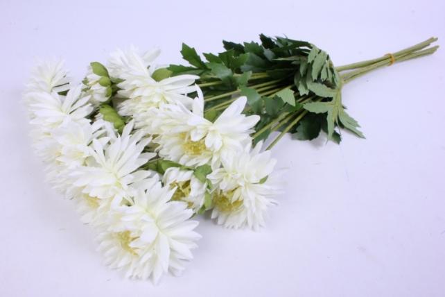 искусственное растение - цветок хризантемы (6 шт в уп) 55 см белый sun469