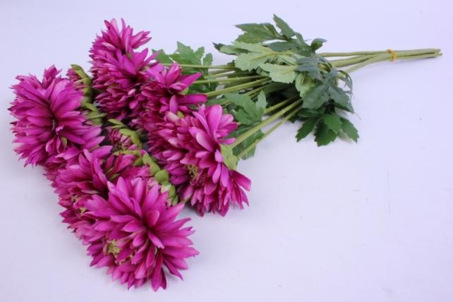Искусственное растение - Цветок Хризантемы ( 6 шт в уп) 55 см Малиновый SUN469