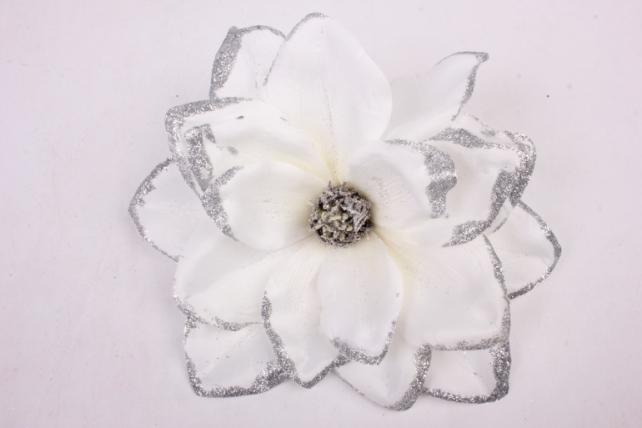 искусственное растение - цветок магнолии белый d=22cm 2749