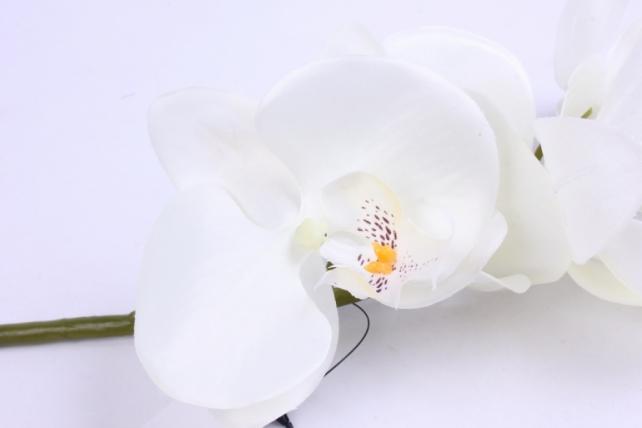 искусственное растение - цветок орхидеи 85 см белая sun437