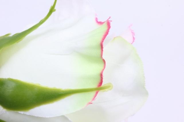 искусственное растение - цветок розы 60 см бело-розовый sun411