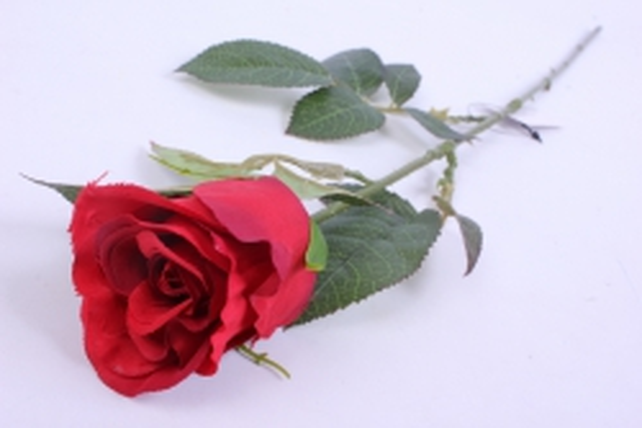 Искусственное растение - Цветок Розы 60 см Красный SUN411
