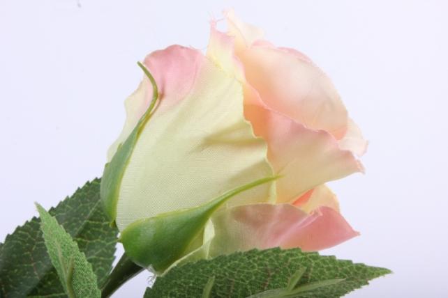 искусственное растение - цветок розы 60 см салатово-розовый sun411