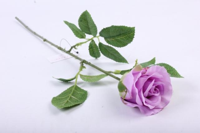 Искусственное растение - Цветок Розы 60 см Сиреневый SUN411