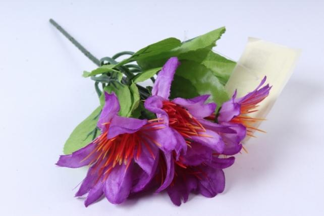 искусственное растение - цветы яркие 20 см фиолетовые