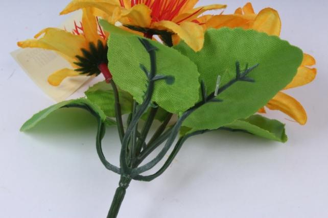 искусственное растение - цветы яркие 20 см жёлтые