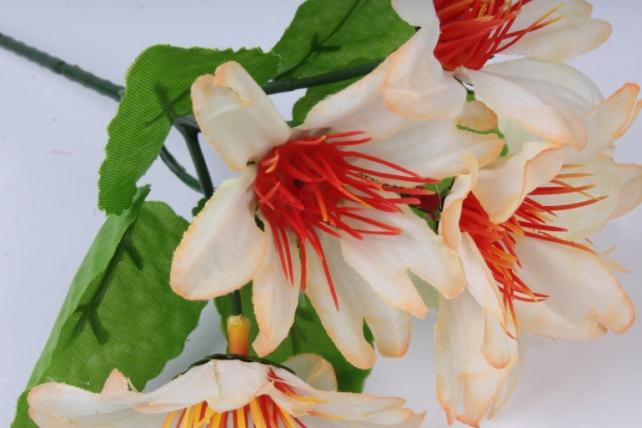 искусственное растение - цветы яркие 20 см персиковые