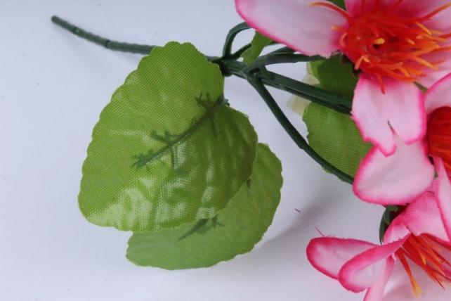 искусственное растение - цветы яркие 20 см розовые