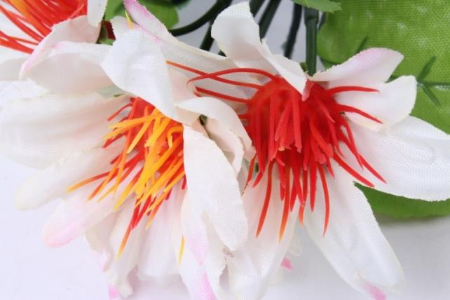 искусственное растение - цветы яркие 20 см шампань