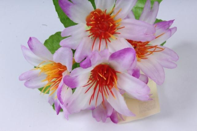 искусственное растение - цветы яркие 20 см сиреневые