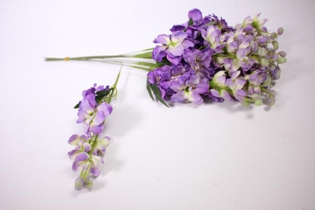 искусственное растение - дельфиниум 40см фиолетовый  (12 шт в уп) sun476