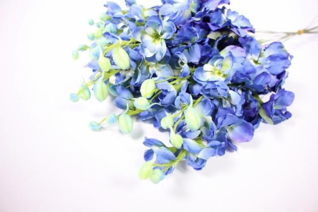 искусственное растение - дельфиниум 40см синий  (12 шт в уп) sun476