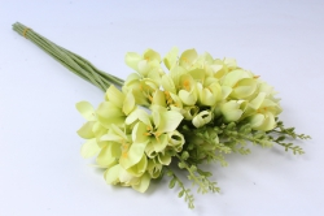 Искусственное растение - Фрезия  (12 шт в уп) салатовая SUN328