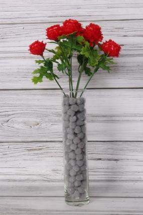 Искусственное растение -  Георгинчики мини красные