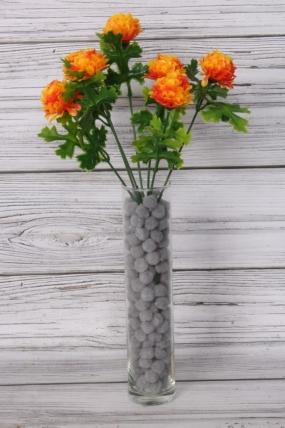 Искусственное растение -  Георгинчики мини оранжевые
