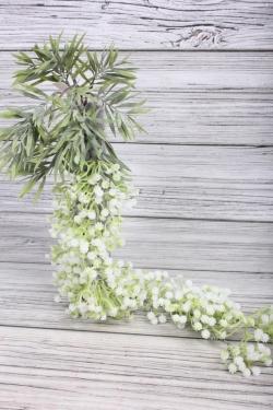 Искусственное растение -  Гипсофила ампельная белая  65 см 21KW048