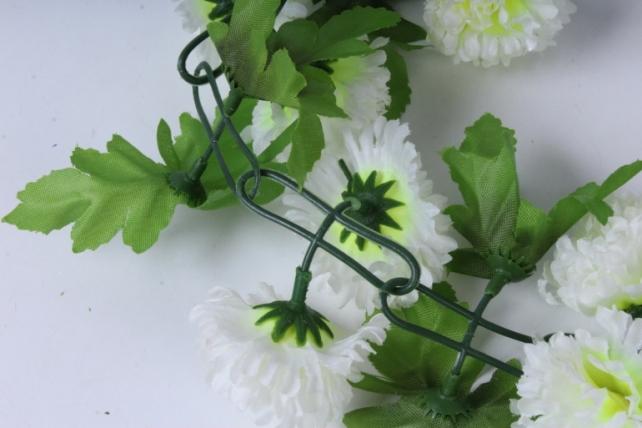 искусственное растение - гирлянда с цветами белыми 2м