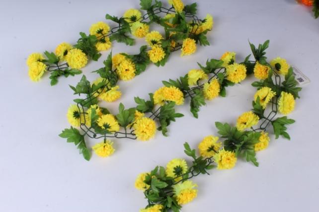 Искусственное растение - Гирлянда с цветами желтыми 2м