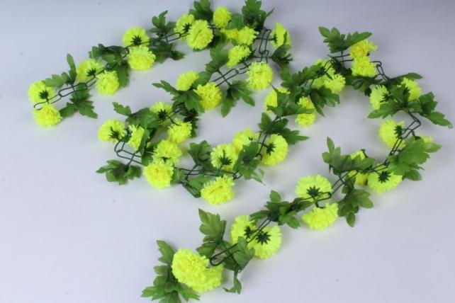 искусственное растение - гирлянда с цветами лимонными 2м