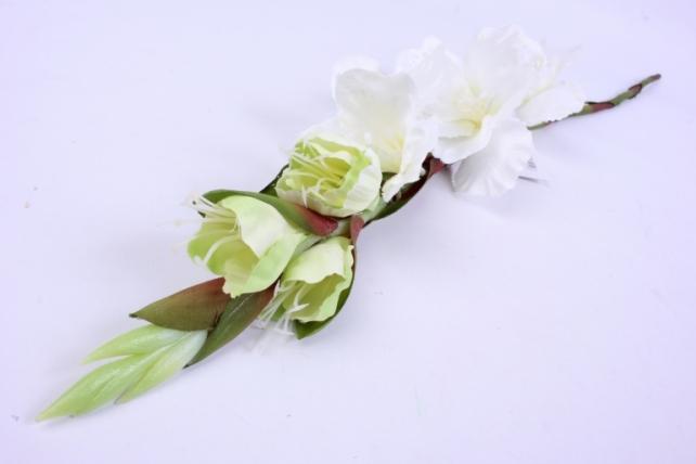 Искусственное растение - Гладиолус 85 см Белый SUN367