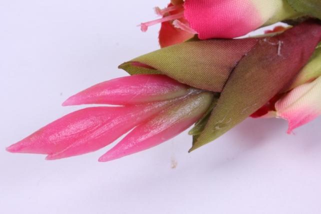 искусственное растение - гладиолус 85 см коралловый sun367