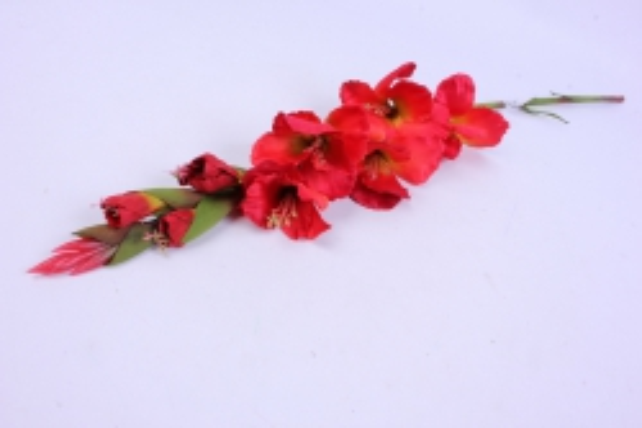 Искусственное растение - Гладиолус 85 см Красный SUN367
