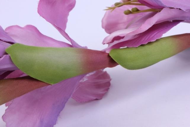 искусственное растение - гладиолус 85 см пепельно-сиреневый sun367