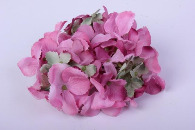 Искусственное растение - Головка Гортензии 15см Розовая  LIU280