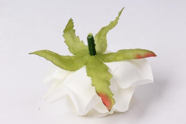 искусственное растение - головка розы белые ( в уп. 24 шт)  d=5см   art117