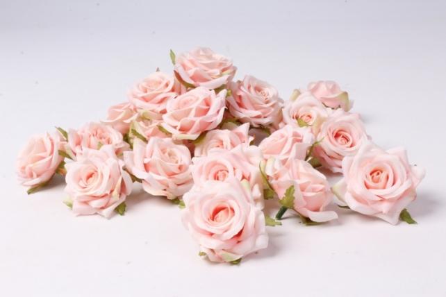 Искусственное растение - Головка Розы Розовые ( в уп. 24 шт)  d=5см   ART117